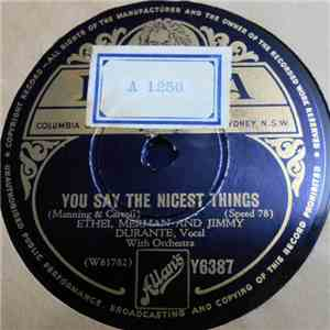 Ethel Merman And Jimmy Durante - You Say The Nicest Things / If You Catch A Little Cold mp3 play